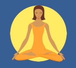 Yoga graphic blue